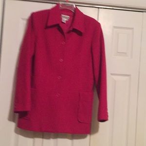 Fushia wool coat